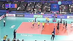 خلاصه والیبال ایران 2-3 برزیل (هفته دوم لیگ ملت های والیبال 2019)