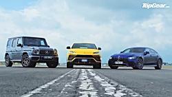 درگ لامبورگینی اوروس با مرسدس G63 و  مرسدس AMG GT چهار در