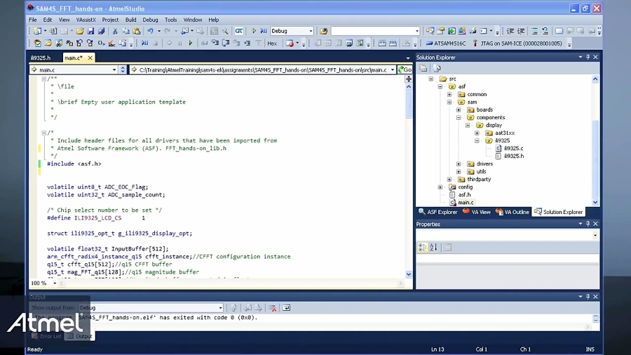 Importing and Using an External Library with Atmel Studio 6