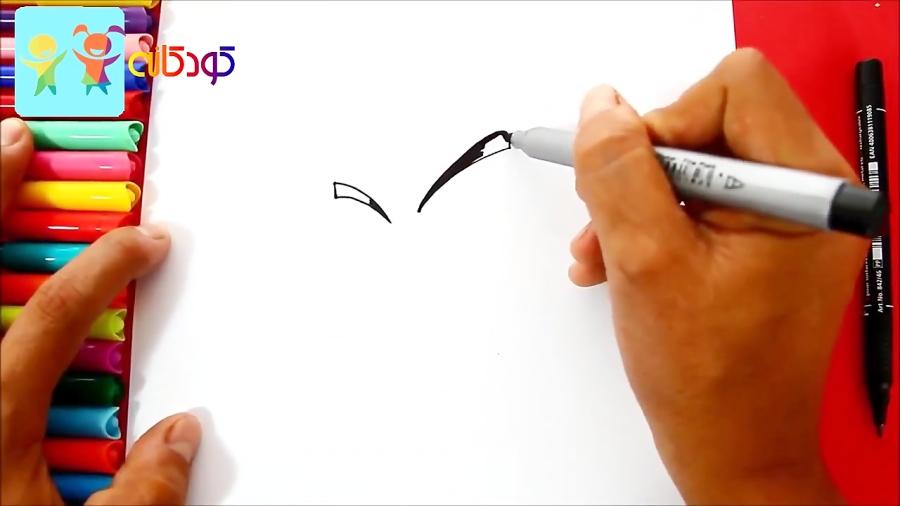 نقاشی کریلین قدرتمند - آموزش نقاشی کودکان - کانال کودکانه