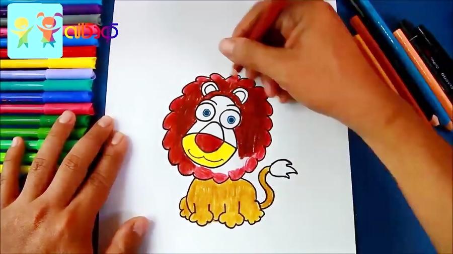 سلطان جنگل - آموزش نقاشی کودکان - کانال کودکانه
