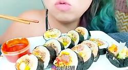 چالش غذا خوری خوردن سوشی