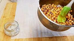 طرز تهیه بادام زمینی عسلی
