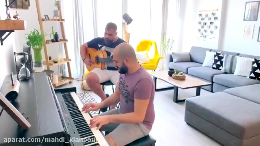 پیانو نوازی و گیتار آهنگ قلبي و مفتاحو (Albi w Moftaho) آموزش پیانو-آموزش گیتار