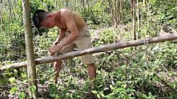 ساخت تبر سنگی در طبیعت