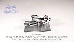 موتور STIRLING - مدل مینی استریلینگ مدل شروع و در حال اجرا ارائه