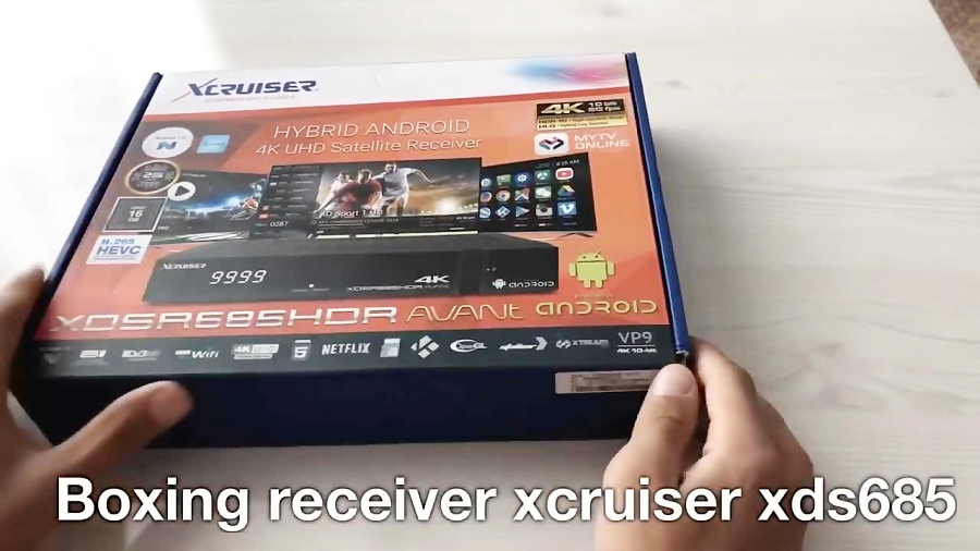 Unboxing xcruiser XDSR 685 receive 4K