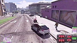 Police Chase Eugene's ATV Mobility Scooter