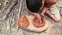 ساخت ظروف سفالی در طبیع...