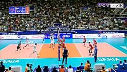 خلاصه والیبال ایران 3-0 روسیه