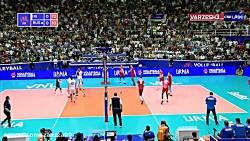 خلاصه والیبال ایران 3 - روسیه 0 (لیگ جهانی2019)