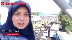 ترافیک سنگین در پل نصر