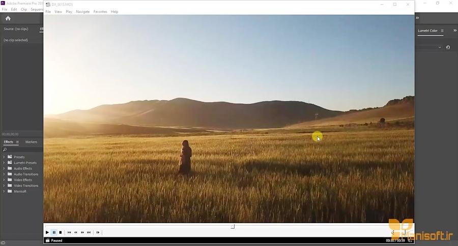 دمو آموزش پریمیر و تدوین فیلم و ساخت ویدیو