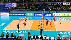 خلاصه والیبال ایران 3-0 استرالیا   ورزشی   والیبال