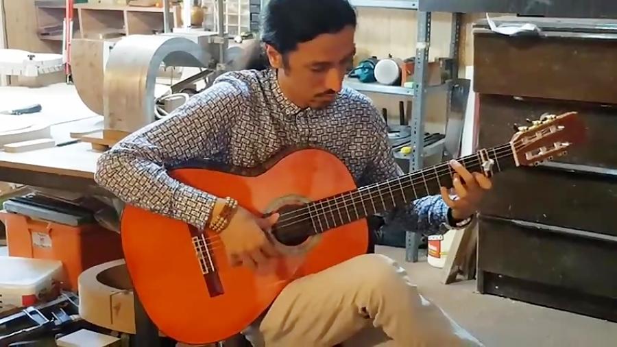 """""""تارانتا"""" تست گیتار فلامنکو در کارگاه آقای سلیمی عزیز"""
