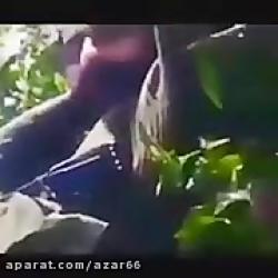 فیلم شوخی شهید مدافع حرم وسط میدان نبرد