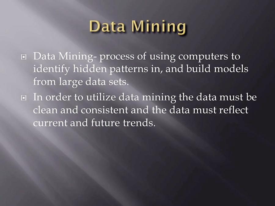 Data Mining and AI