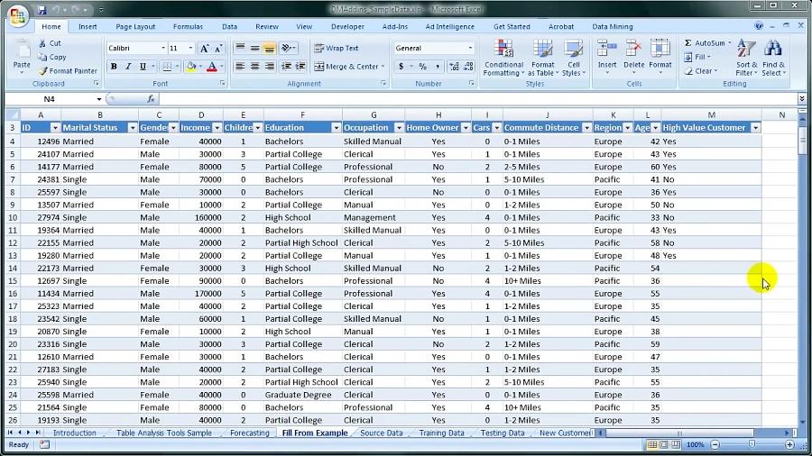داده کاوی با ابزارهای مایکروسافت