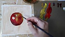 آموزش نقاشی سیب واقع گر...