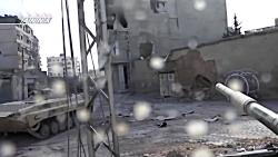 نبرد تانک های گوپرو در سوریه: کمین تروریست ها برای تانک های ارتش سوریه در داریا