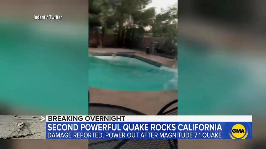 زلزله 7.1 ریشتری در کالیفرنیای آمریکا