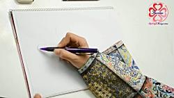 آموزش طراحی سیاه قلم - طراحی سیاه قلم سر اسب