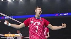خلاصه مرحله پایانی لیگ ملتهای والیبال 2019- روسیه 3-0 فرانسه