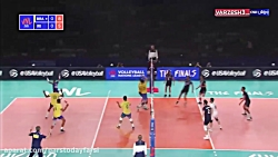 خلاصه والیبال برزیل 3 - ایران 2