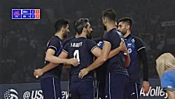 خلاصه والیبال ایران 2 - برزیل 3 (حذف ایران از لیگ ملتها)
