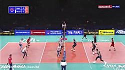 خلاصه بازی والیبال آمریکا 3 روسیه صفر مرحله نهایی لیگ ملت های والیبال 2019