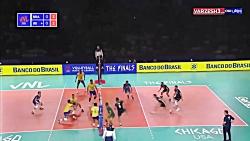 خلاصه والیبال برزیل 3 - 2 ایران  (لیگ ملتهای والیبال)