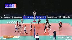 خلاصه مرحله پایانی لیگ ملت های والیبال 2019: آمریکا 3-0 روسیه
