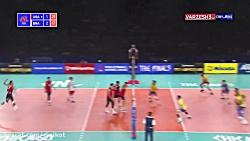 خلاصه والیبال آمریکا 3 - 2 برزیل  (لیگ ملتهای والیبال)