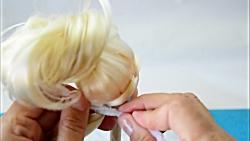 مدل مو و لباس سیندرلا برای  عروسک باربی