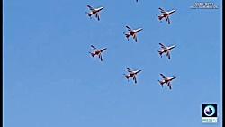 سانحه برخورد جت های نمایش هوایی هند در آسمان