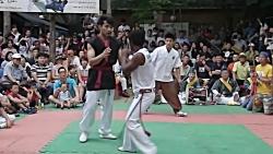 مبارزه دو سبک رزمی تکیون و کاپوئرا در کره جنوبی 2