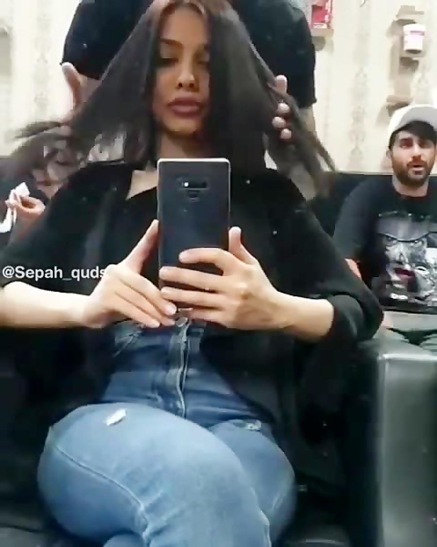 واقعا خاک بر سر مسئولین کنم دیگه کم مونده لخت بشن همه آرایشگاه مختلط در  تهران