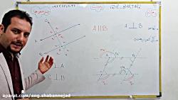 ویدیو آموزش تعامد فصل سوم ریاضی هشتم