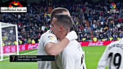 10 گل برتر رئال مادرید در لالیگا در فصل 2018-19 HD