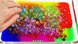 مخلوط کردن اسلایم Rainbow Slime for Kids   Bingo Song