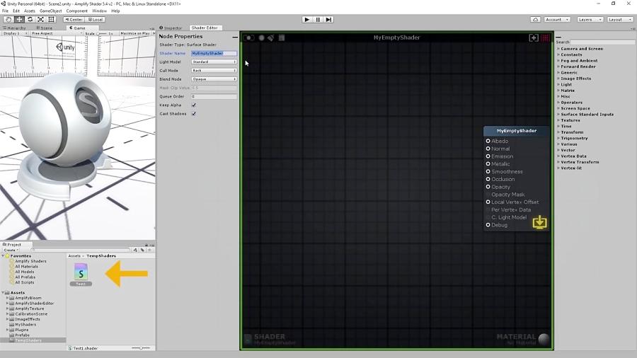 Amplify Shader Editor Tutorial 1 - User Interaction