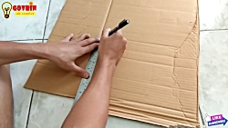 How to make a photo frame with cardboard