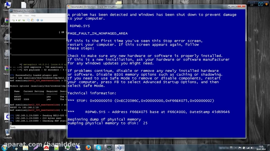Metasploit Remote Host Vulnerability Exploiting