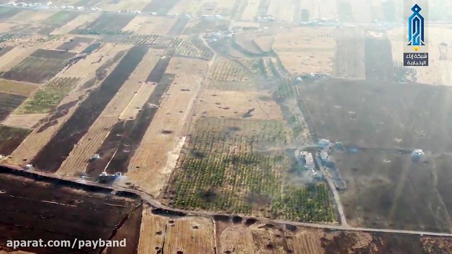 فیلم لحظه انفجار عامل انتحاری تکفیری های جبهه النصره در روستای حصرایا در حماه