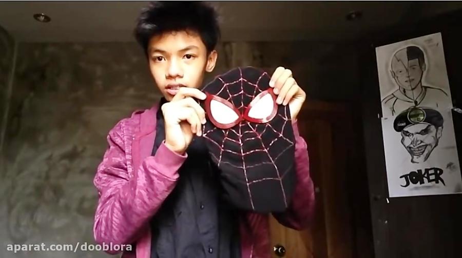 آموزش ساخت ماسک مرد عنکبوتی ( مایلز مورالس) کاسپلی