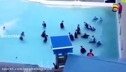 تمرین سخت خاخامهای اسرائیلی برای شنا در مدیترانه
