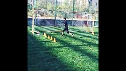 تمرین دروازه بانی امیر عابدزاده