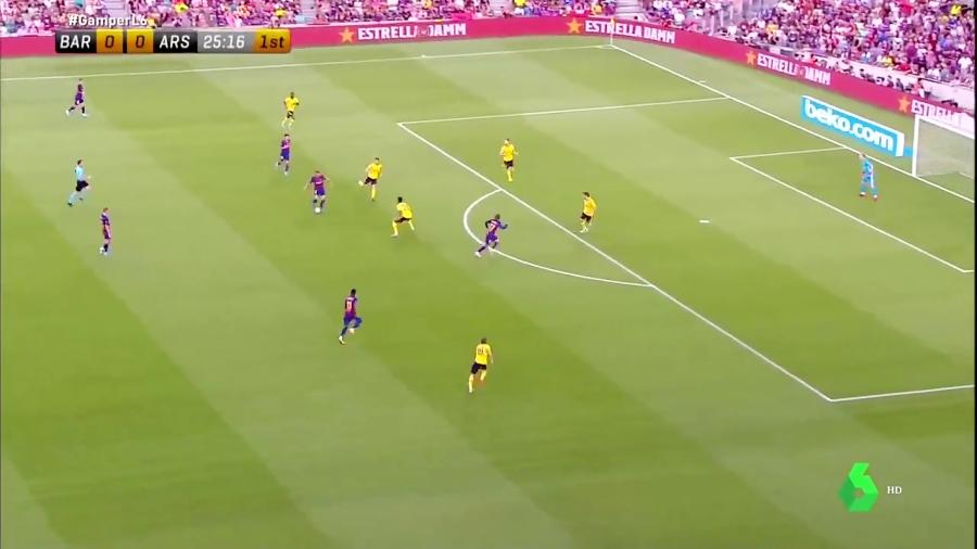 خلاصه بازی بارسلونا 2 - آرسنال 1 - قهرمانی بارسلونا در جام خوان گمپر