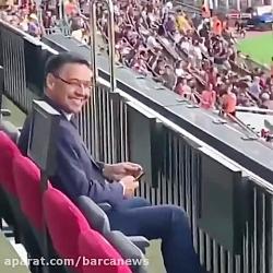 واکنش رئیس بارسلونا به ...