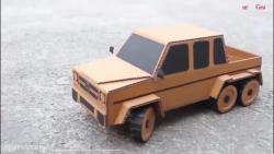 ساخت ماشین مدل و کنترلی 015  ( بنز شش چرخ کنترلی)